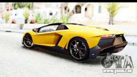 Lamborghini Aventador LP720-4 Roadster 2013 für GTA San Andreas linke Ansicht