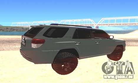 Toyota 4Runner pour GTA San Andreas laissé vue