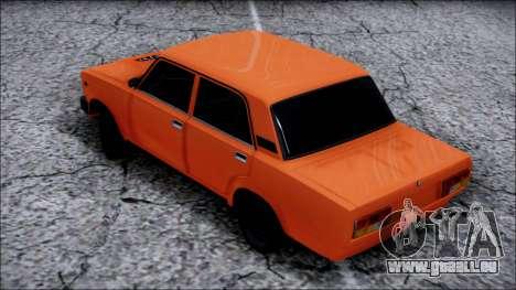 VAZ 2105 Pigler pour GTA San Andreas sur la vue arrière gauche