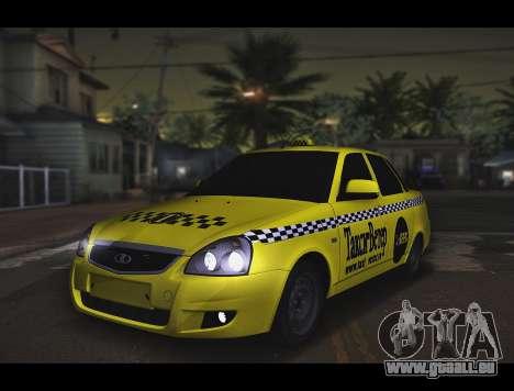 Lada Priora Taxi-Le Vent pour GTA San Andreas
