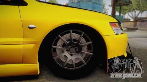 Mitsubishi Lancer Evolution IX Tuned für GTA San Andreas rechten Ansicht