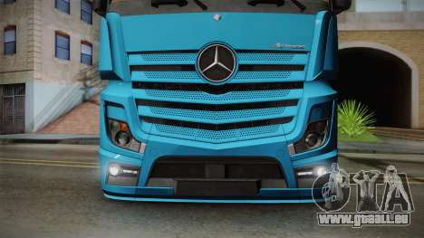 Mercedes-Benz Actros Mp4 6x2 v2.0 Gigaspace für GTA San Andreas rechten Ansicht