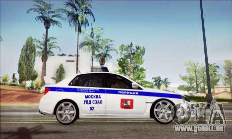 Subaru Impreza WRX STI Police für GTA San Andreas rechten Ansicht