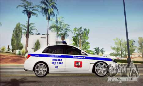 Subaru Impreza WRX STI Police pour GTA San Andreas vue de droite
