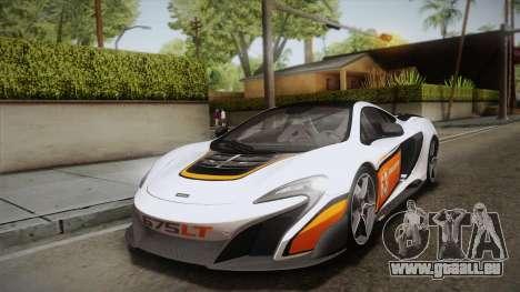 McLaren 675LT 2015 5-Spoke Wheels für GTA San Andreas Unteransicht