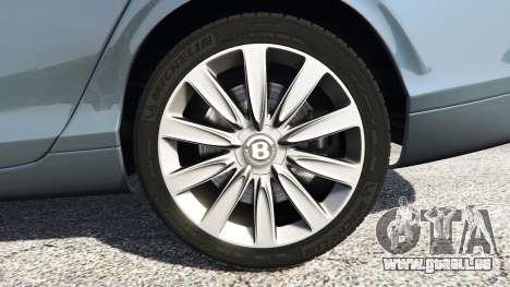 GTA 5 Bentley Flying Spur [add-on] arrière droit vue de côté