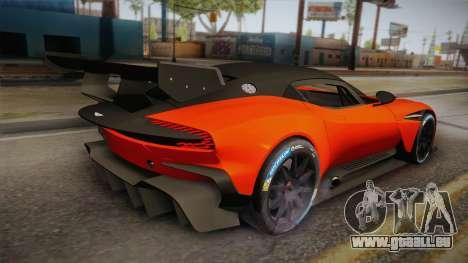 Aston Martin Vulcan pour GTA San Andreas laissé vue