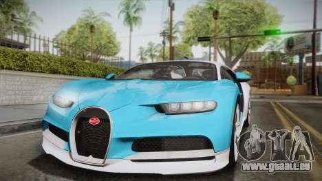 Bugatti Chiron 2017 für GTA San Andreas Seitenansicht