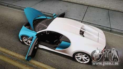 Bugatti Chiron 2017 für GTA San Andreas Innen