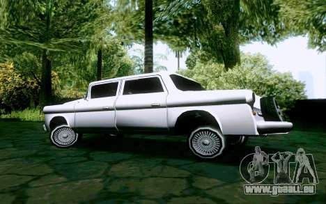 Walton Sedan pour GTA San Andreas vue de droite