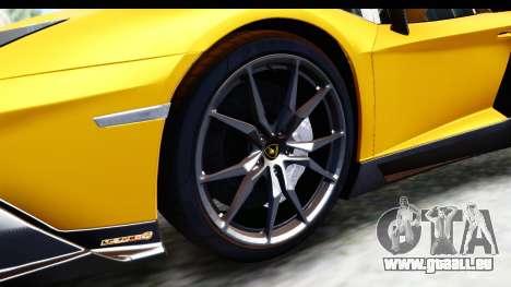 Lamborghini Aventador LP720-4 Roadster 2013 für GTA San Andreas Rückansicht