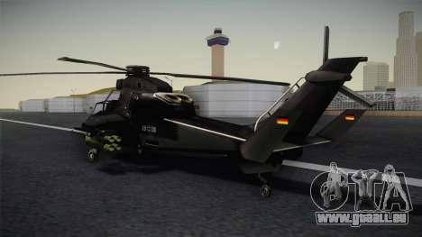 Eurocopter Tiger für GTA San Andreas linke Ansicht