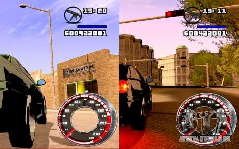 Compteur de vitesse GTA SA Style V16x9 (écran la pour GTA San Andreas deuxième écran