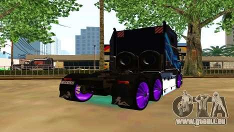 Kamaz 54112 TANKER TURBO pour GTA San Andreas sur la vue arrière gauche