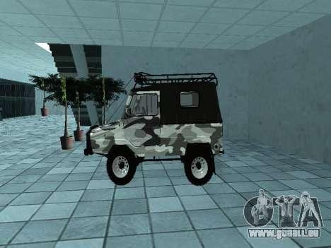 LUAZ 969М Hiver camo pour GTA San Andreas laissé vue