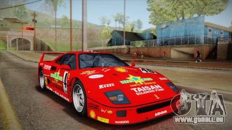 Ferrari F40 (EU-Spec) 1989 HQLM für GTA San Andreas Seitenansicht