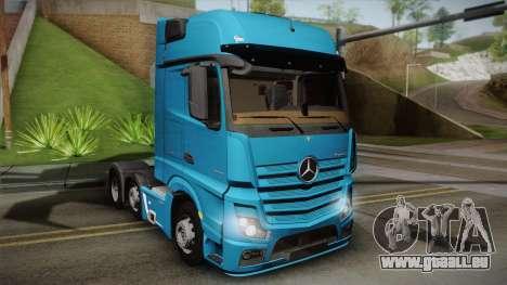 Mercedes-Benz Actros Mp4 6x2 v2.0 Gigaspace für GTA San Andreas