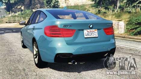 GTA 5 BMW 335i GT (F34) [add-on] arrière vue latérale gauche
