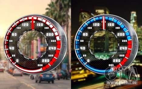 Tacho GTA SA Stil V4x3 für GTA San Andreas