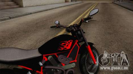 GTA 5 Pegassi Esskey PJ1 für GTA San Andreas zurück linke Ansicht