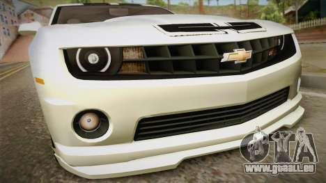 Chevrolet Camaro Synergy pour GTA San Andreas vue de droite