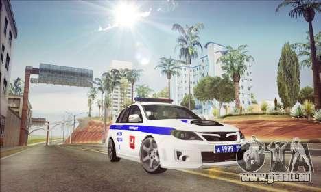 Subaru Impreza WRX STI Police pour GTA San Andreas