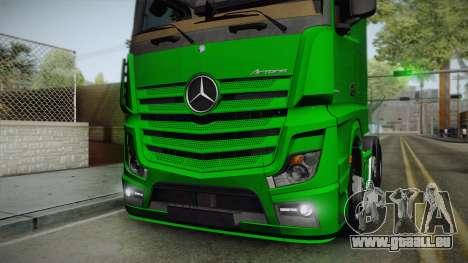 Mercedes-Benz Actros Mp4 6x2 v2.0 Bigspace pour GTA San Andreas vue arrière