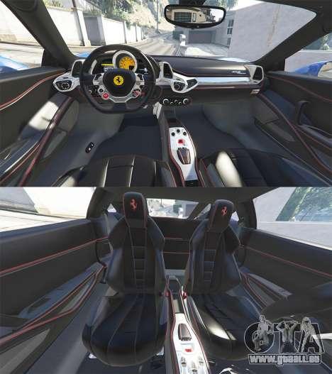 GTA 5 Ferrari 458 Italia v2.0 [replace] vorne rechts Seitenansicht