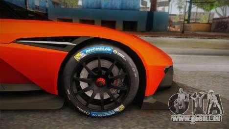 Aston Martin Vulcan für GTA San Andreas Rückansicht