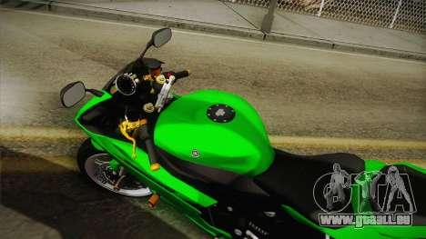 Yamaha YZF-R6 2008 pour GTA San Andreas sur la vue arrière gauche