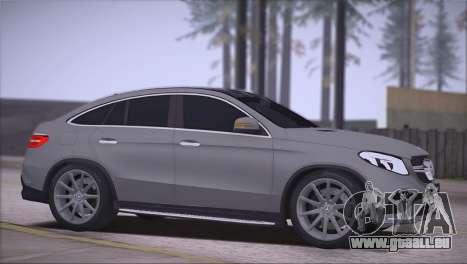 Mercedes-Benz GLE AMG pour GTA San Andreas laissé vue