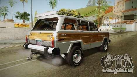 Jeep Grand Wagoneer Limite 1986 pour GTA San Andreas laissé vue