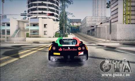 Ferrari F12 Berlinetta für GTA San Andreas Rückansicht