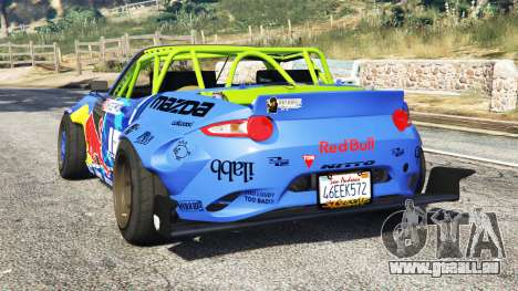 GTA 5 Mazda MX-5 (ND) RADBUL Mad Mike [replace] hinten links Seitenansicht