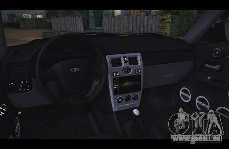 Lada Priora Taxi-Le Vent pour GTA San Andreas laissé vue