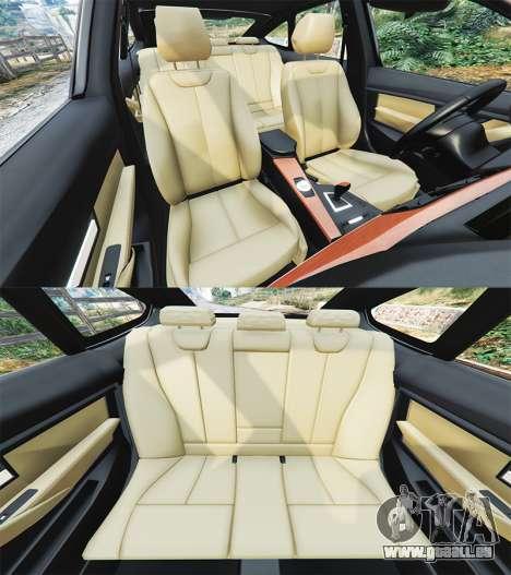 GTA 5 BMW 335i GT (F34) [add-on] avant droite vue de côté