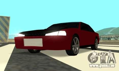 Sultan Kaefoon für GTA San Andreas Rückansicht