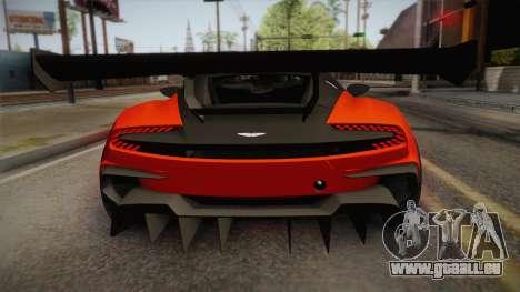 Aston Martin Vulcan pour GTA San Andreas vue de droite