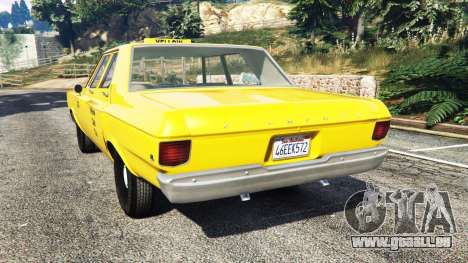 GTA 5 Plymouth Belvedere 1965 Taxi [replace] arrière vue latérale gauche