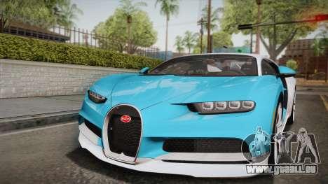 Bugatti Chiron 2017 pour GTA San Andreas vue de dessus