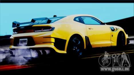 Chevrolet Camaro SS 2016 Bumblebee TF 5 pour GTA San Andreas laissé vue