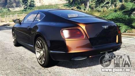 GTA 5 Bentley Continental GT 2012 [replace] hinten links Seitenansicht