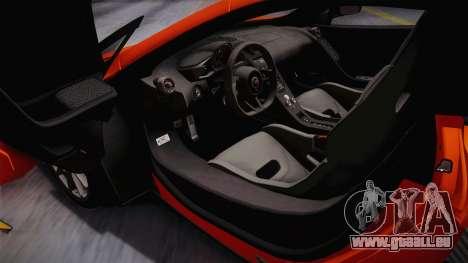McLaren 675LT 2015 5-Spoke Wheels für GTA San Andreas zurück linke Ansicht