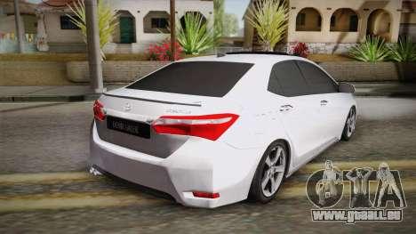 Toyota Corolla 2015 pour GTA San Andreas laissé vue