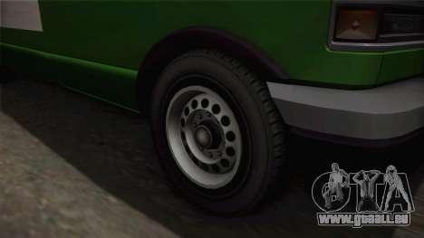 GTA 4 Burrito pour GTA San Andreas vue arrière