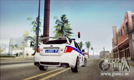 Subaru Impreza WRX STI Police für GTA San Andreas Seitenansicht