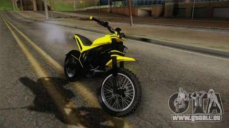 GTA 5 Epic Maibatsu Manchez für GTA San Andreas zurück linke Ansicht