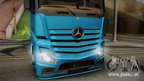 Mercedes-Benz Actros Mp4 6x2 v2.0 Gigaspace für GTA San Andreas zurück linke Ansicht