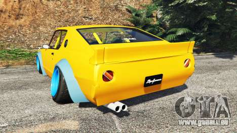 GTA 5 Nissan Skyline GT-R C110 Liberty Walk [add-on] hinten links Seitenansicht