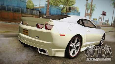 Chevrolet Camaro Synergy pour GTA San Andreas laissé vue